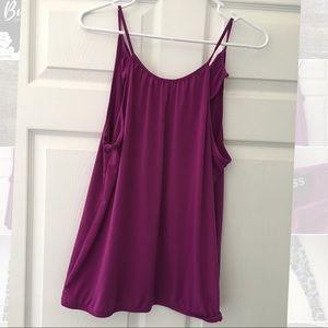 EXPRESS Burgundy sleeveless blouse